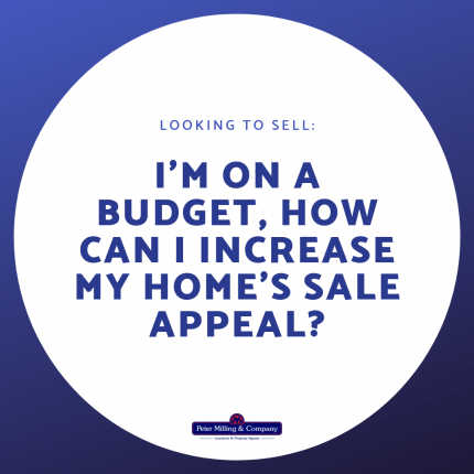 I'm on a budget, how can I increase my home's sale appeal?