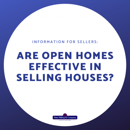 Are open homes effective in selling houses?